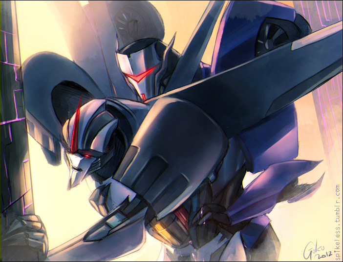 x starscream megatron transformers prime Ochaco uraraka my hero academia