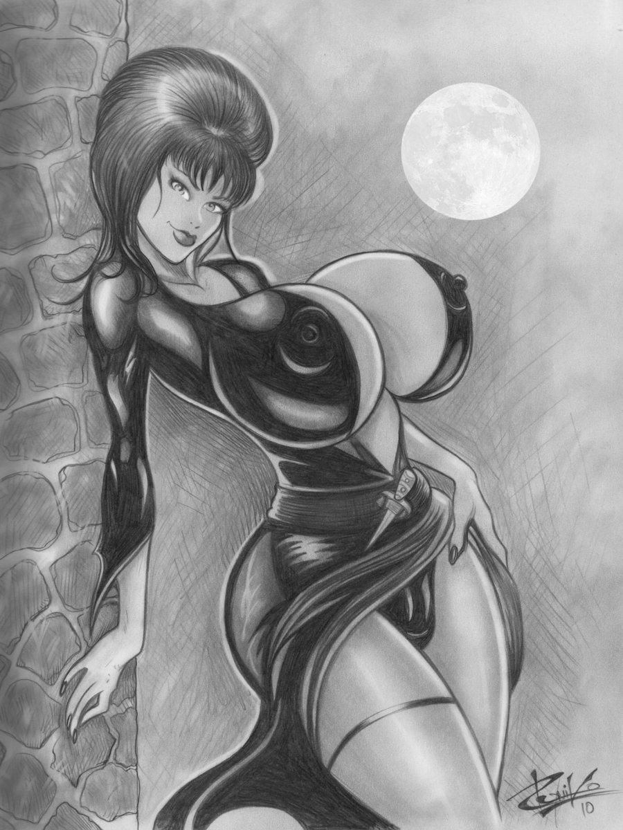 of the tits elvira dark mistress Dragon ball z porn picture