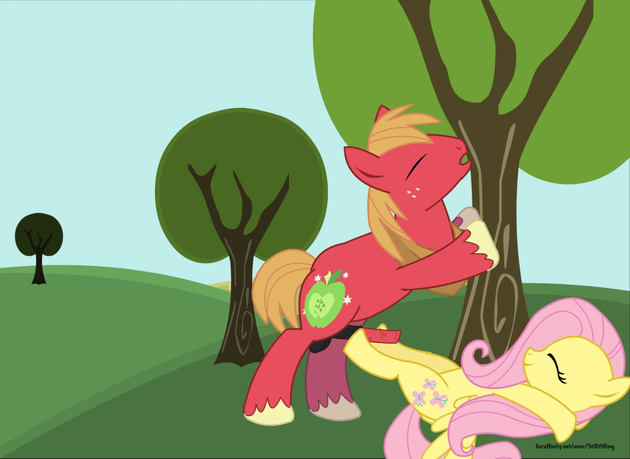 x mac big fluttershy mlp Spike on tom and jerry