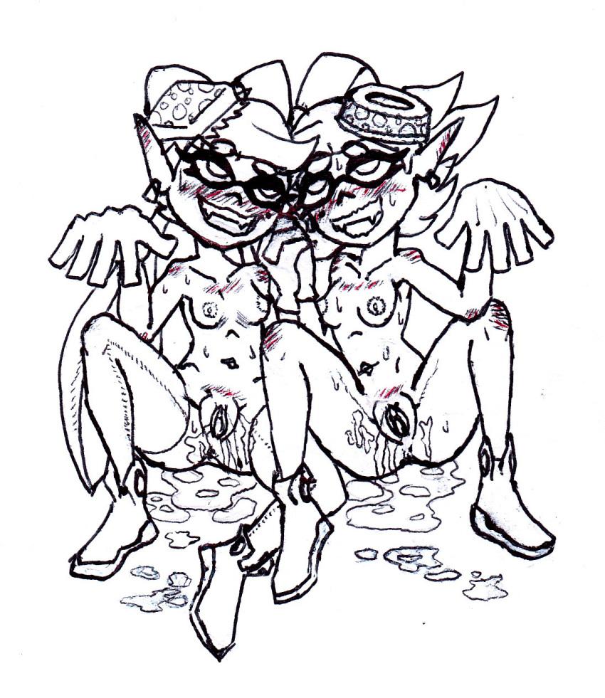 fanart and marie splatoon callie Ed edd n eddy pink belly