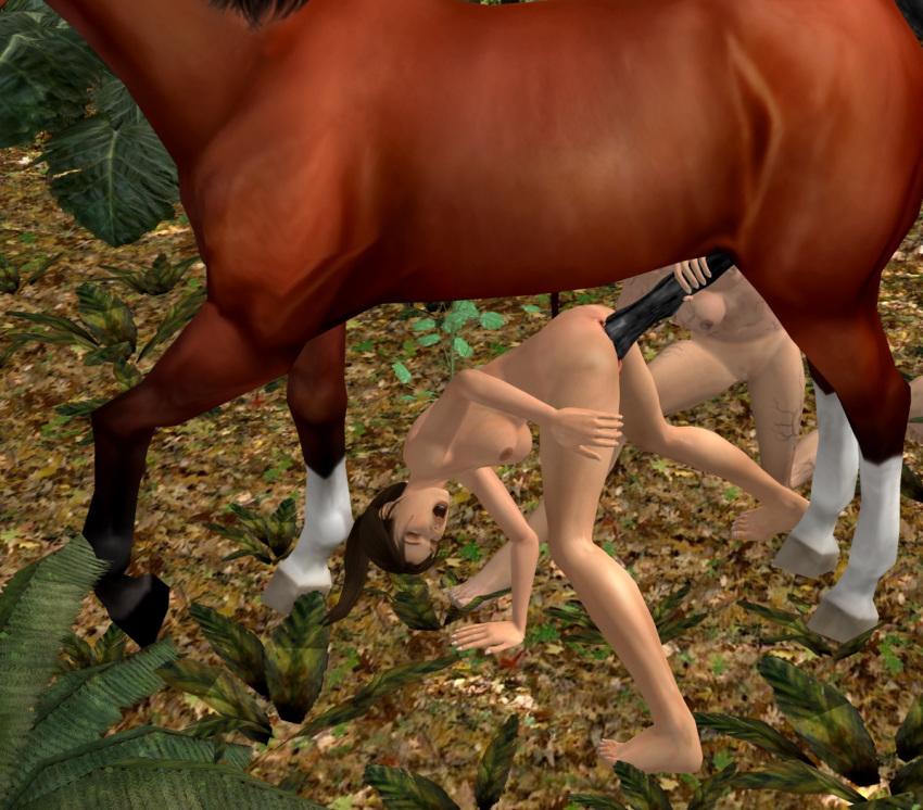 with horse lara tomb raider One punch man