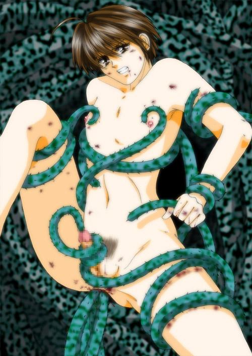 mania tentacle green of secret Blow job cum on tits