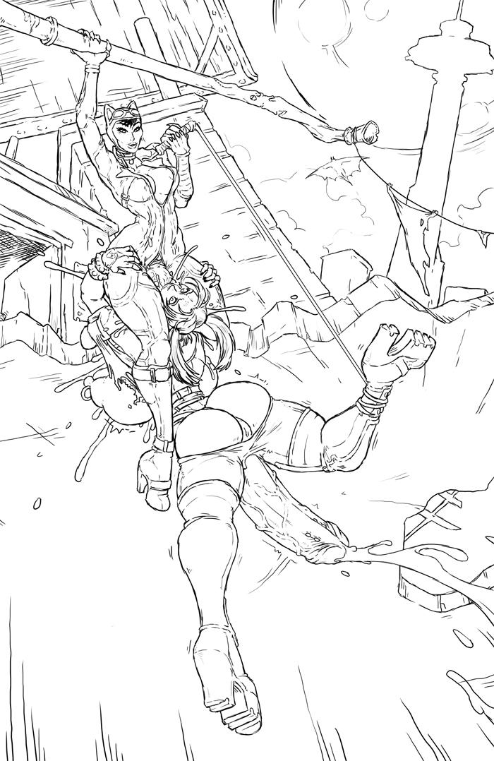 city batman arkham catwoman naked M&m characters green